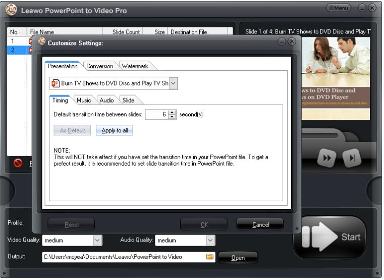 set the file  parameters