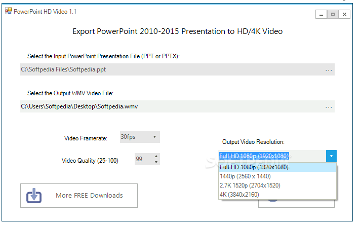 PowerPoint HD video