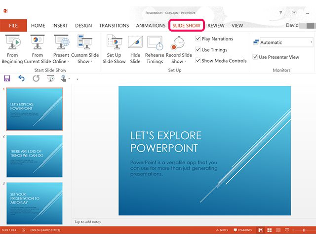 Play PowerPoint Automatically