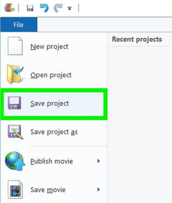 Save project