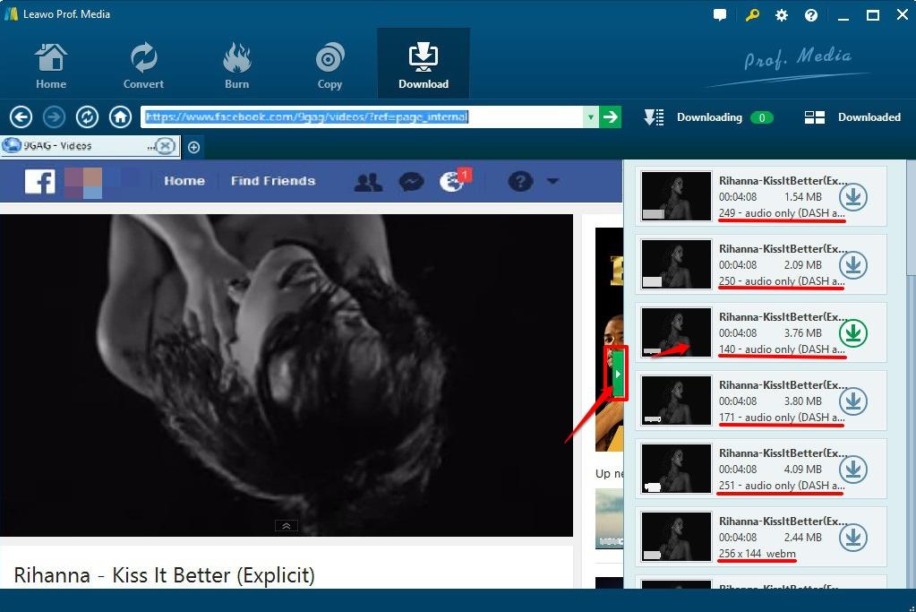 Choose  proper video to download