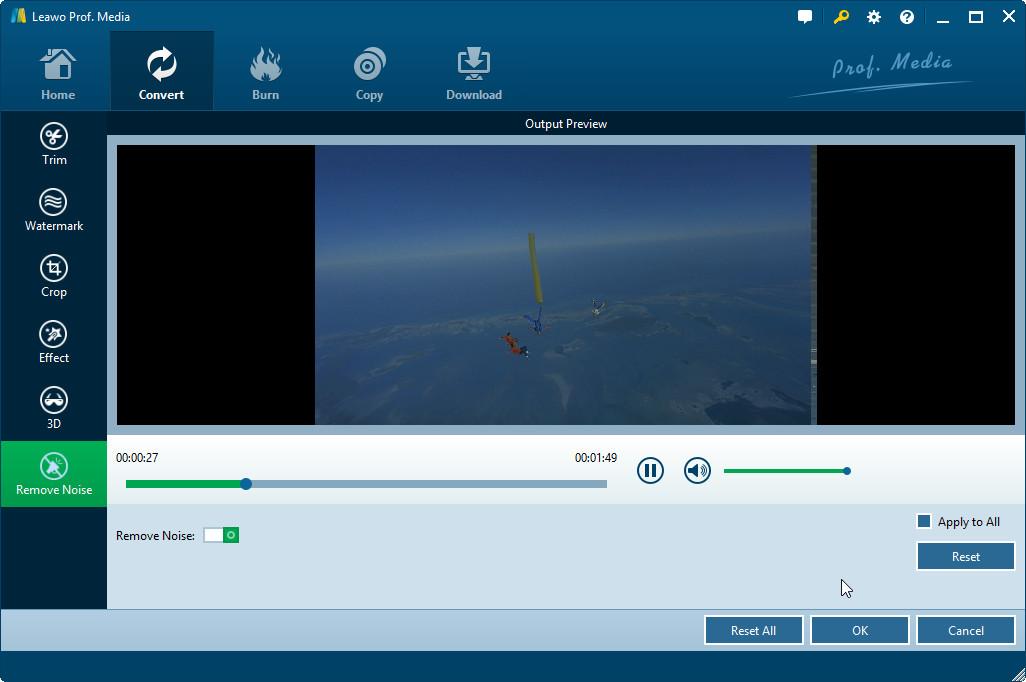 Remove WebM video noise