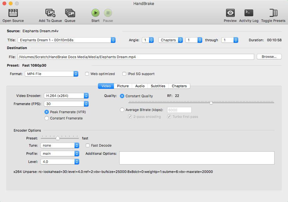 HandBrake Mac