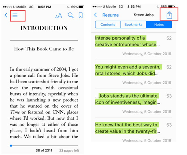Add Highlighted PDF Contents to Notes in iBooks