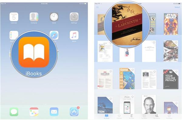 Open iBooks app