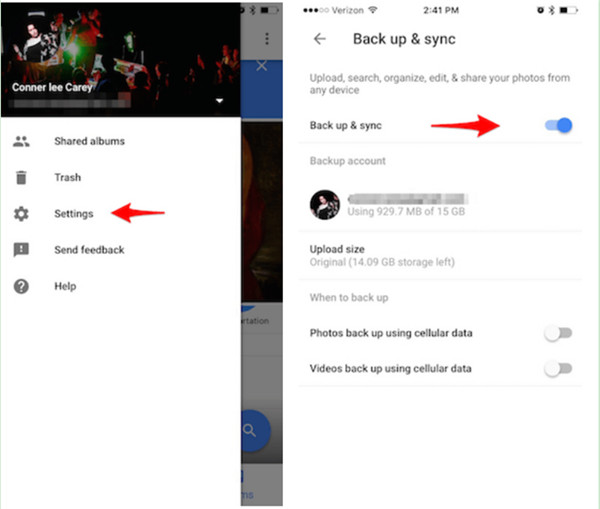 Sync Photos from iPhone to Google Photos Library