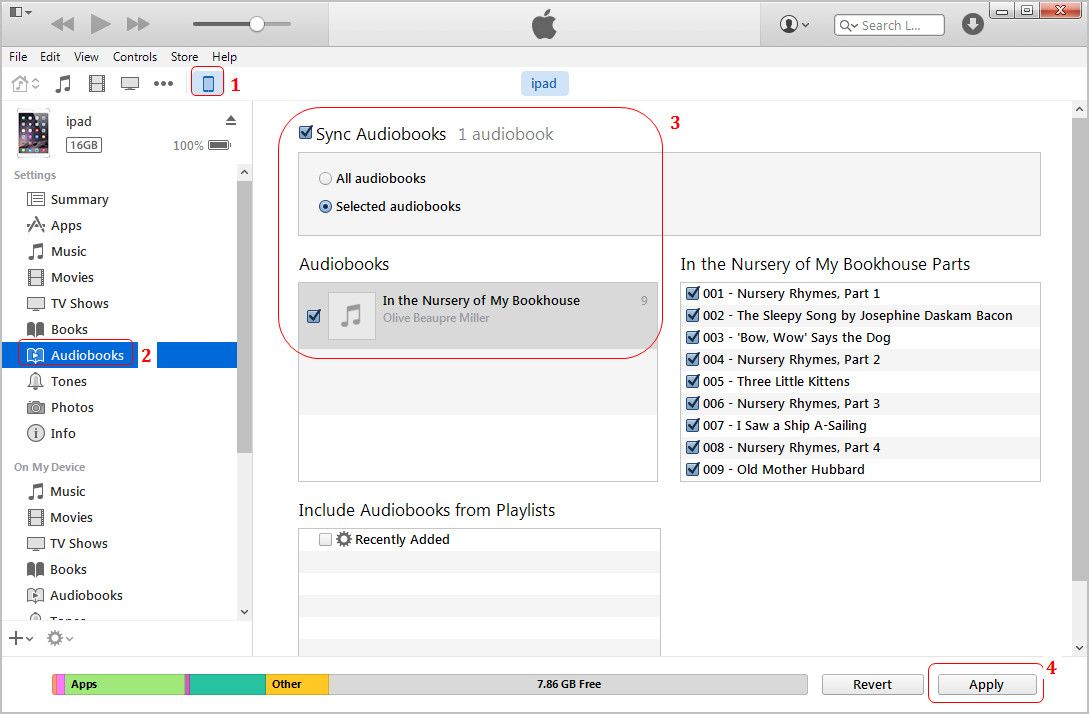 iTunes Transfer Audiobooks to iPhone