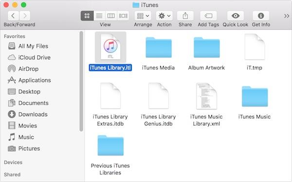 iTunes media folder