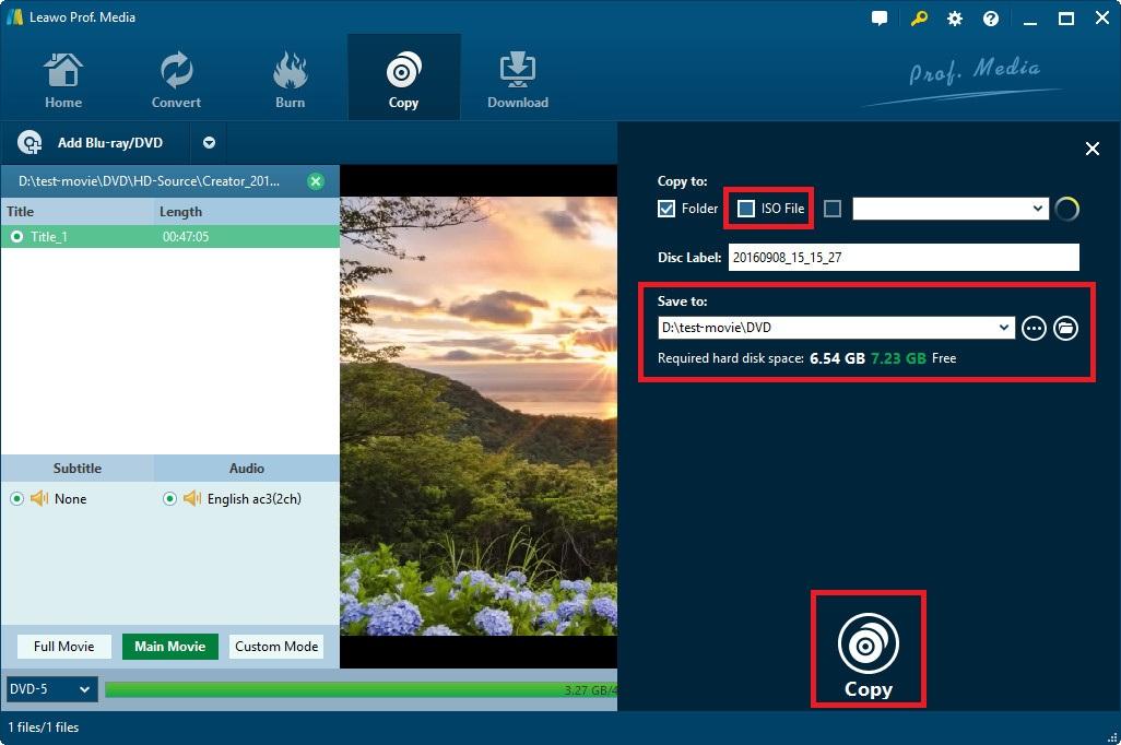 ISO Creator Start Creating ISO image