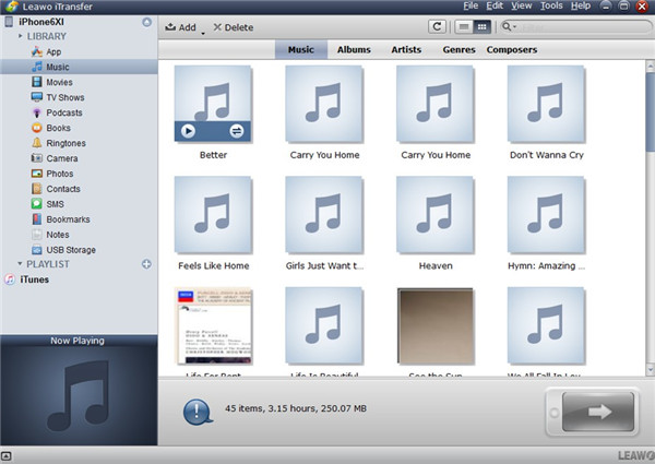 Choose iPhone Songs to Transfer to iTunes
