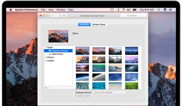 how to set the screen resolution in mac air