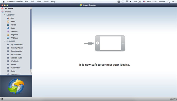 Open iTransfer for Mac