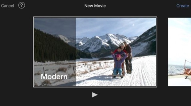 choose a theme or template for the movie for movie part you can select from modern bright playful neon travel simple news and cnn ireport
