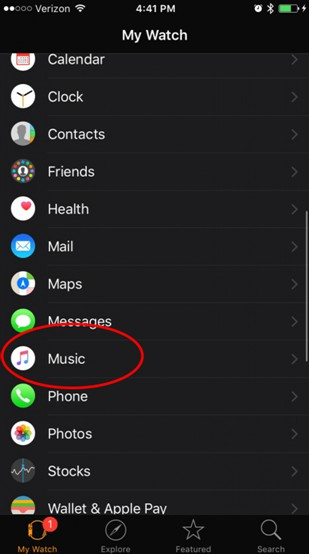 hit Music tab