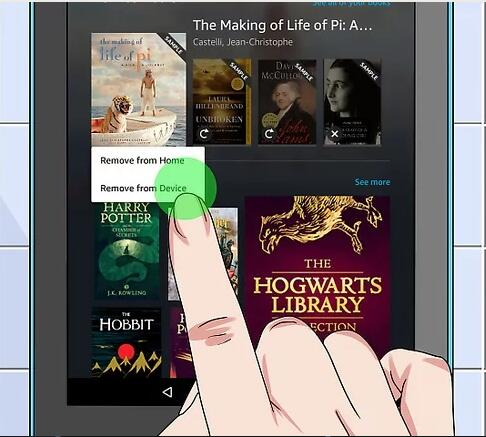 delete book from Kindle Fire