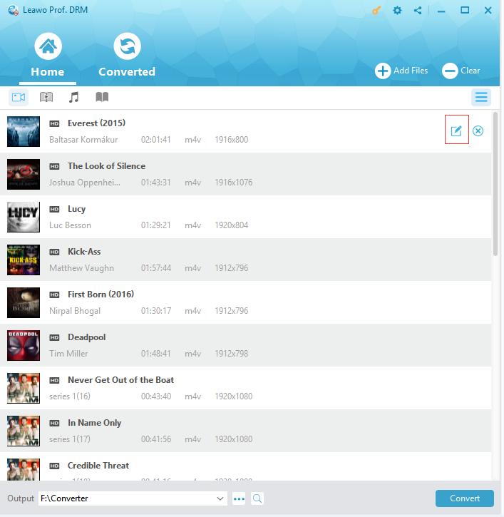 Choose audio tracks and subtitles