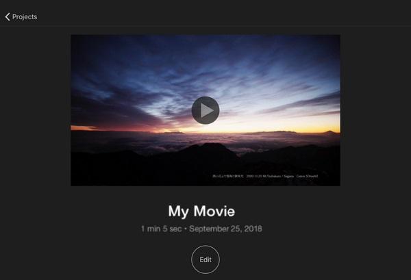 iMovie to merge video