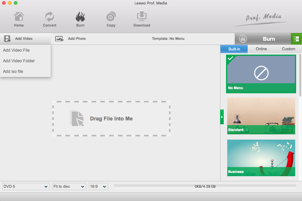Top 5 Best Free DVD burning software for Mac | Leawo