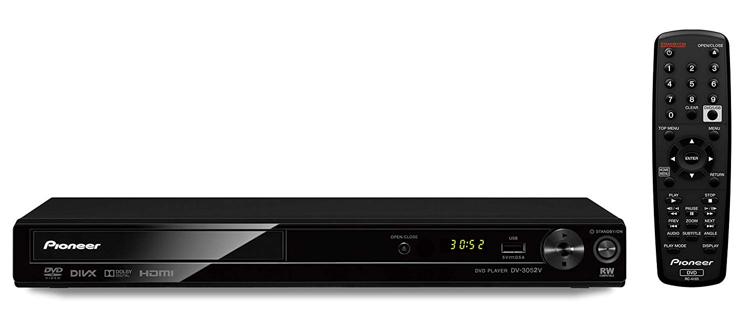 Pioneer DV-3052 Multi System All Region HDMI 1080p Upscaling DVD Player