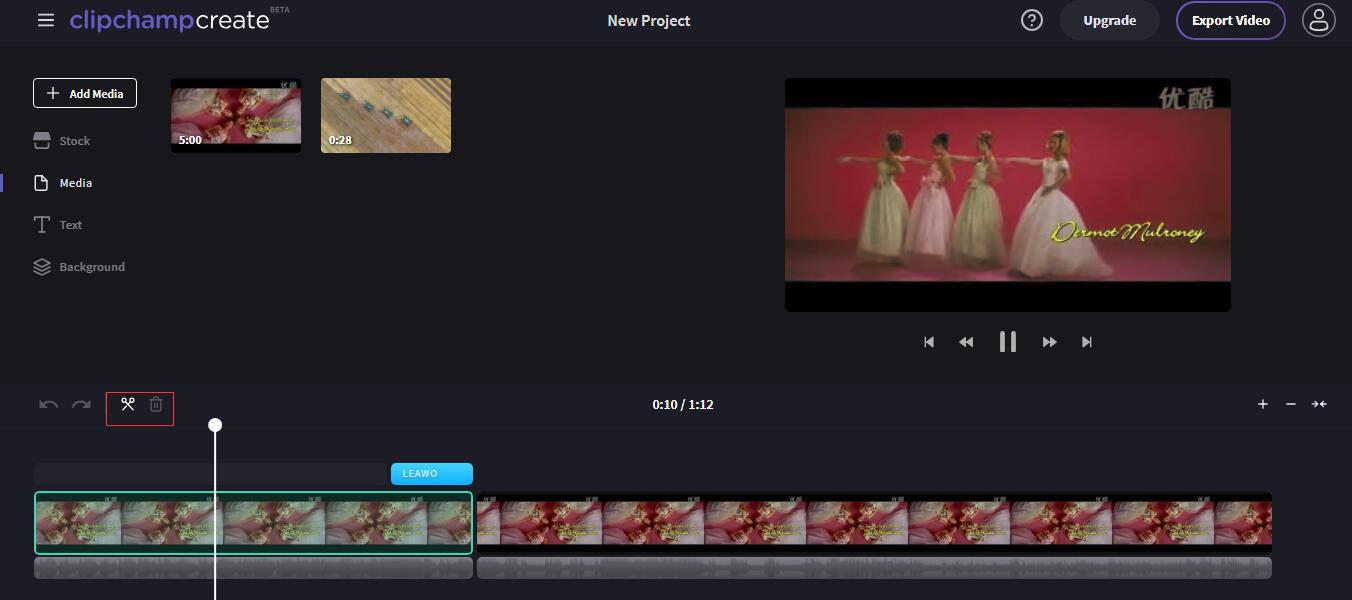 Cut the video