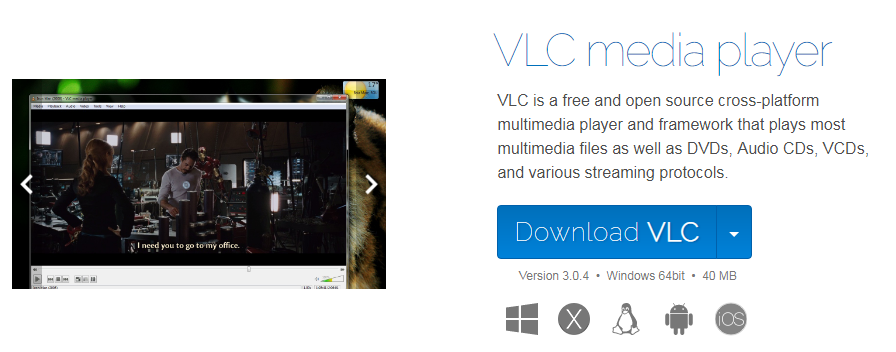 Download and install VLC