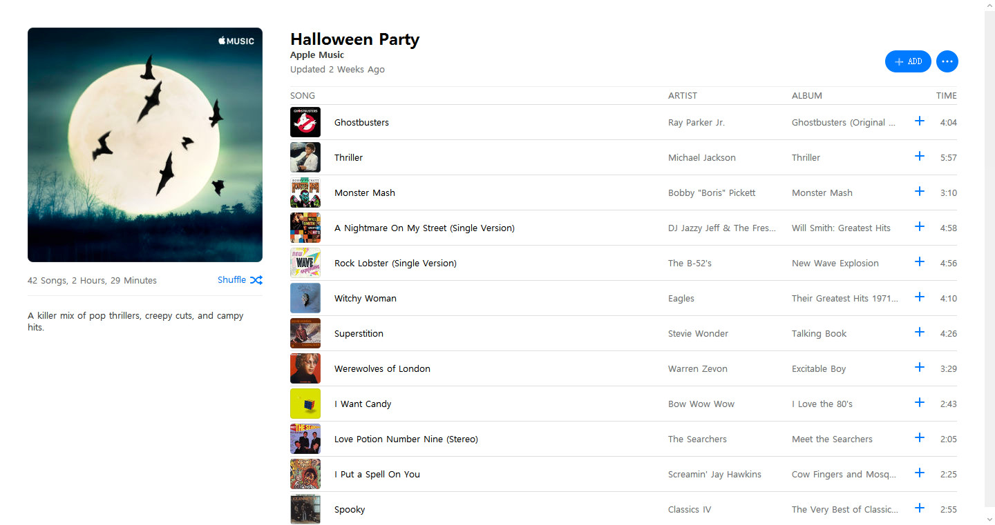 Make Halloween music party playlist in iTunes playable on other