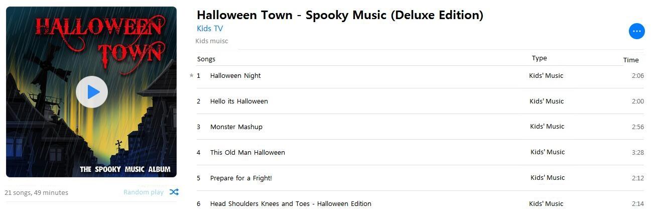 Classic Halloween Kids Music Playlist
