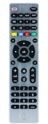 GE UltraPro 4-Device universal remote for Blu ray player