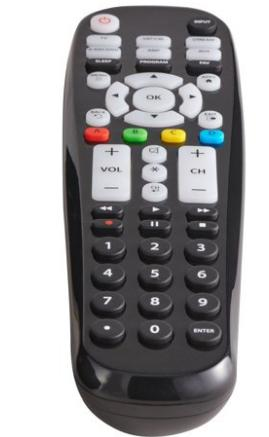 Blackweb 6 Device Universal Large Button remote control for Blu ray player