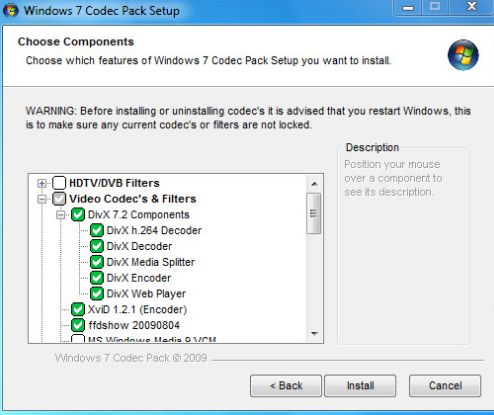 windows media player 12 download codecs automatically