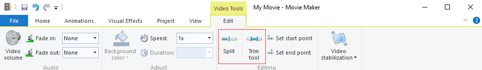 Edit the Imported MP4 Video