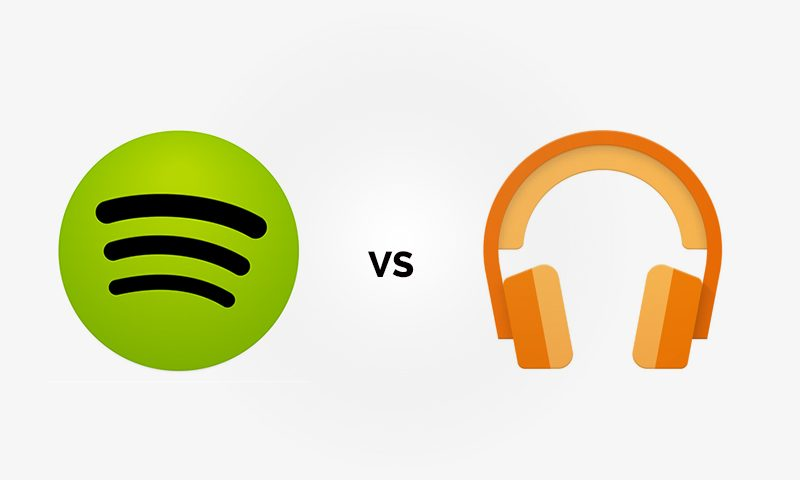 Spotify vs  Google Play Music - Side by Side Comparison