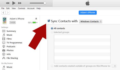 Import-Contacts-from-vCard-to-iPhone-using-iTunes-sync