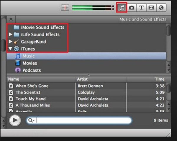how-to-add-music-to-imoive-from-spotify-via-itunes-music-11
