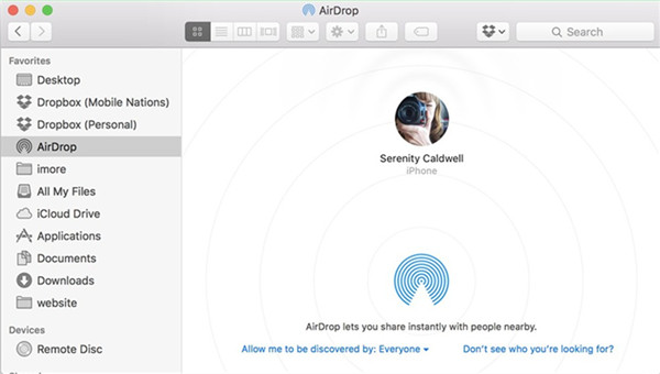 how-to-transfer-iphoto-video-to-iphone-using-airdrop-finder-9