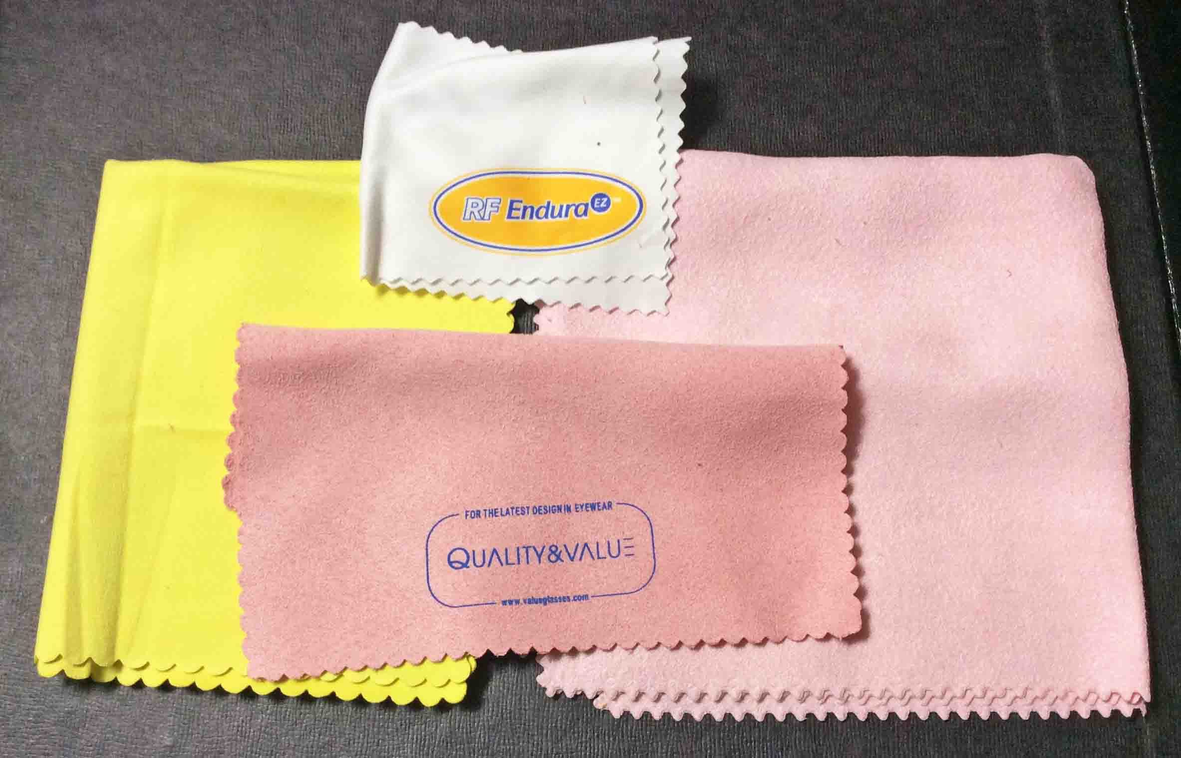Microfiber cloth for cleaning Blu-ray discs