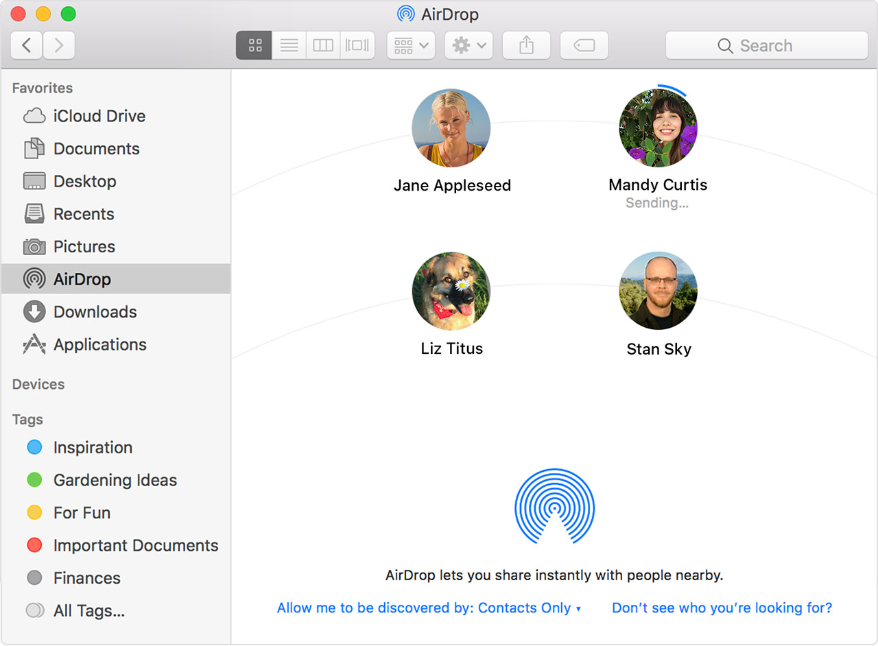 Turn on AirDrop