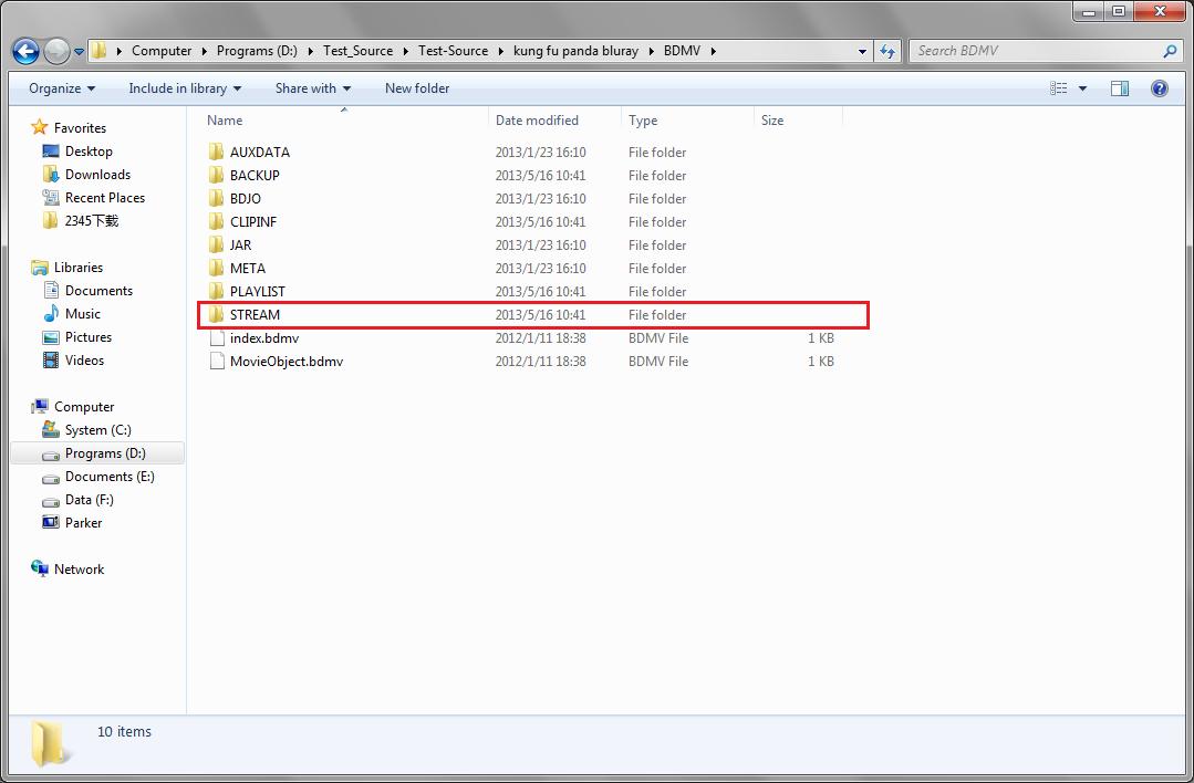 Open video folder