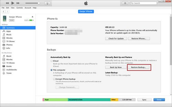 recover-the-deleted-audio-messages-with-iTunes-16
