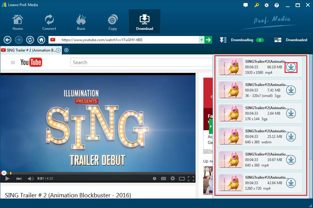 YouTube Downloader Downloading