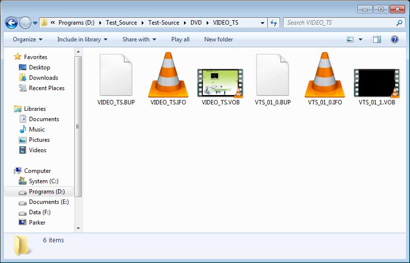 Find VOB video files