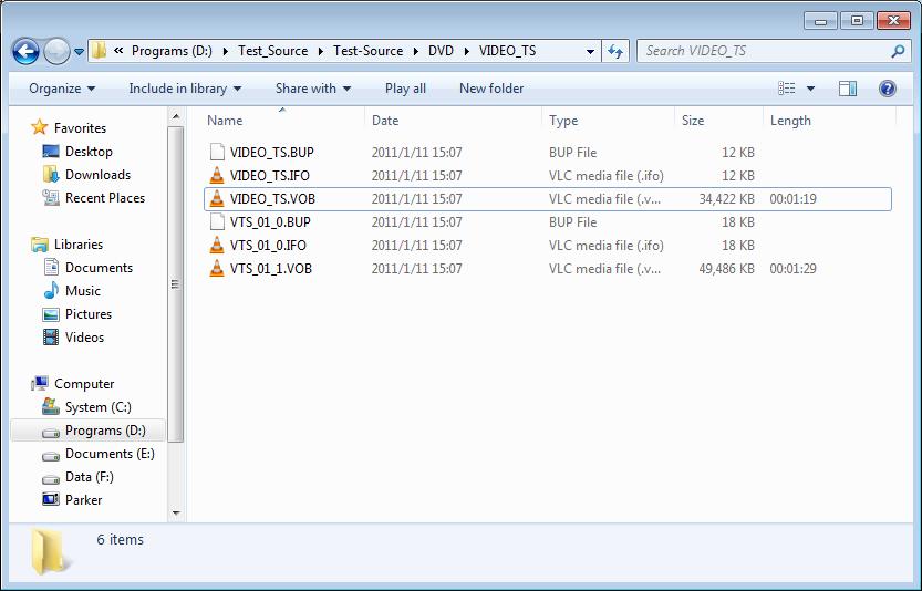 Play DVD VOB files
