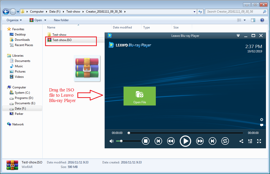 Play DVD ISO with Leawo Blu-ray Player