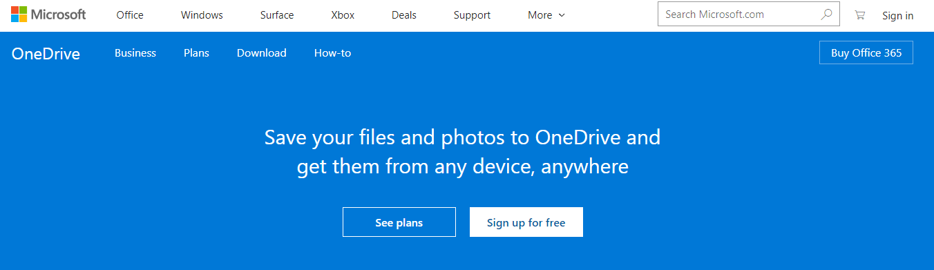 Open OneDrive Website