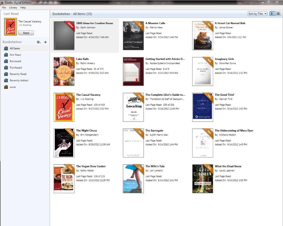 Log in Adobe Digital Editions app