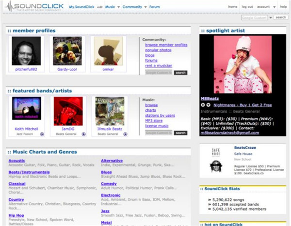 music sites to download album for free