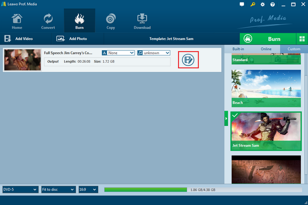 Leaw-DVD-Creator-click-edit-button