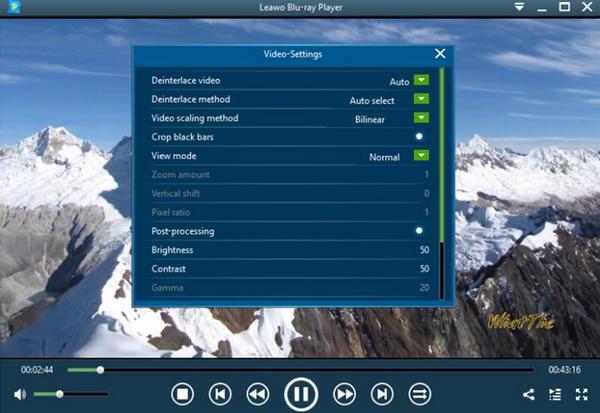 Leawo-Blu-ray Player-set-parameter