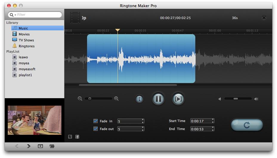 Adjust music effect