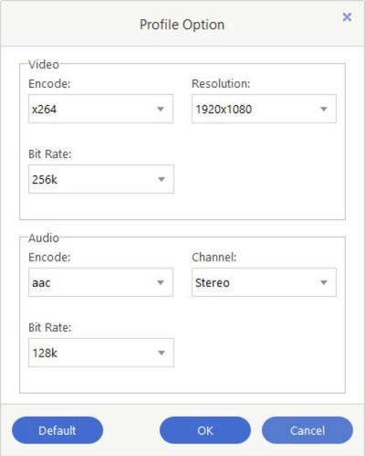 Set Output Profile Parameters